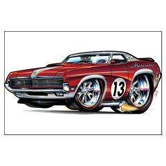 Large Poster > 69 Mercury Cougar Products > Rohan Day Car Art