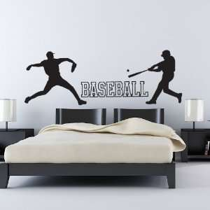 Baseball Player Wall Decal Set, Vinyl Sticker Home