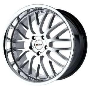 Petrol Wheels Vengeance Hyper Silver Wheel with Stainless Lip (18x9.5