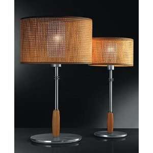 Aba high tech table lamp   white cotton, large, wenge, 110   125V (for
