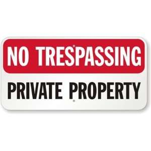 No Trespassing, Private Property Aluminum Sign, 24 x 12