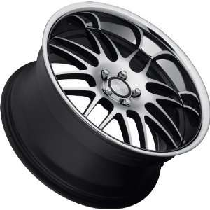 Concept One 701 RS 8 Matte Black Wheel with Machined Lip Finish (20x8