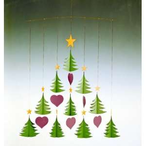Flensted Mobiles Nursery Mobiles, 10 Christmas Trees Baby