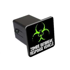 Zombie Outbreak Response Vehicle   Green   2 Tow Trailer Hitch Cover