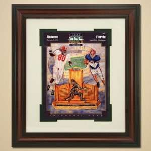 1992 SEC Championship Alabama Crimson Tide vs. Florida Gators Framed