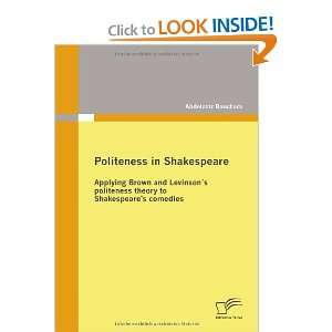 to Shakespeares comedies (9783836677530): Abdelaziz Bouchara: Books