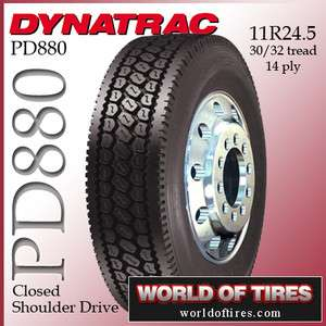 semi truck tires 24.5 tires 11r24.5 DynaTrac PD880 semi tires 11r 24.5