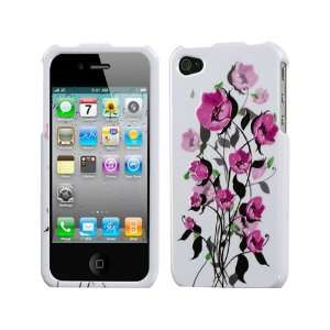 White Hot Pink Flowers Crystal Hard Skin Case Faceplate