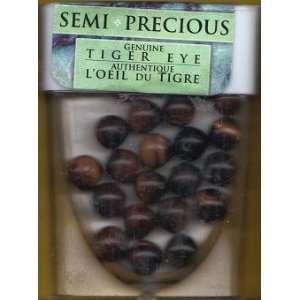 Semi Precious 10mm Tiger Eye Beads   25 pc Arts, Crafts