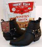 MOTORCYCLE BOOTS MENS BIKE BIKER LEATHER JOHNNY BULLS BLACK NEW