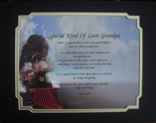 SPECIAL KIND OF LOVE GRANDPA POEM CHRISTMAS GIFT TRAIN