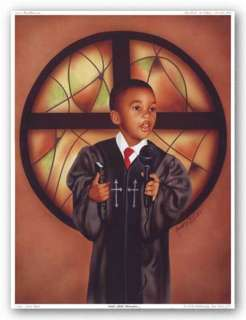 AFRICAN AMERICAN ART Gods Little Preacher Alan Hicks