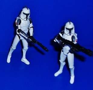 Jedi Master Plo Koon & AT TE Assault Squad Figure Lot Star Wars Clone