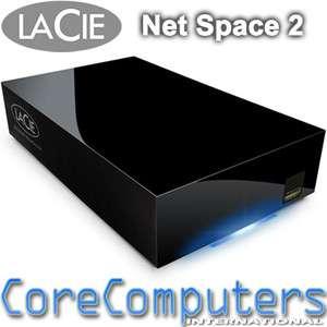 LaCie 2TB Network Space 2 NAS Storage Home Media Server UPNP 2000GB
