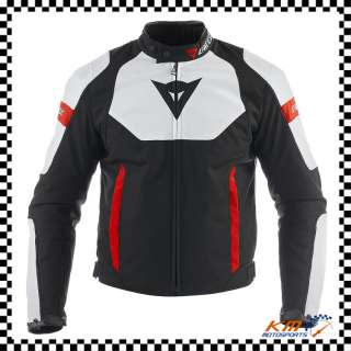DAINESE AVRO TEX JACKET BLACK/WHITE/RED TEXTILE MENS MOTORCYCLE