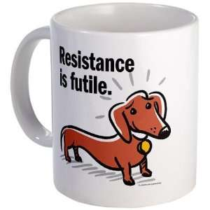 Dachshund Resistance Funny Mug by CafePress: Kitchen