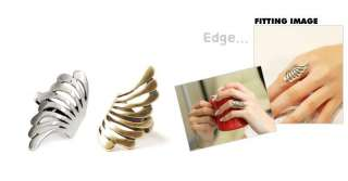 New Women Fashion Antique Burnish Angel Wing Ring 0007