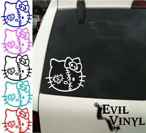Hello Kitty Monster Zombie Skull Car Decal Sticker