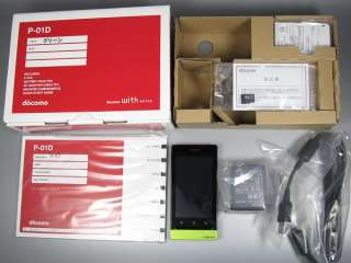 DOCOMO PANASONIC P 01D 5MP ANDROID JAPANESE SMARTPHONE GREEN UNLOCKED