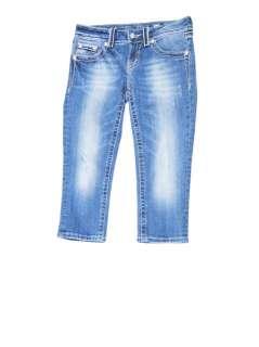 Miss Me womens jp5182p dramatic stitch fleur di lis capri jeans 26 $98