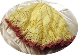 022 BUTTERCUP CIRCULAR BABY AFGHAN CROCHET PATTERN