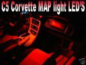 C5 Corvette Rear View Mirror Map LED Lights LS1 Z06 ZO6