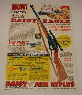 1956 DAISY EAGLE bb gun air rifle ad page