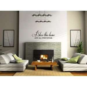 Bless This Home And All Who Enter Vinyl Wall Decal