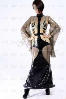 Latex (rubber) Rose Dress Suit Catsuit Uniform Unique