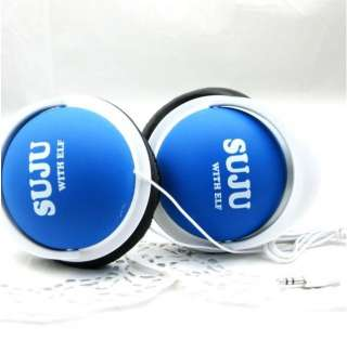 POP 2012 New SJ SUPER JUNIOR WITH E.L.F KPOP BLUE EARPHONES HEADPHONES