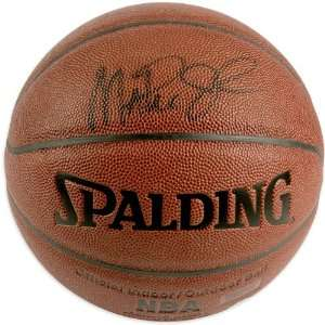 Mounted Memories Los Angeles Lakers Magic Johnson Autographed Spalding