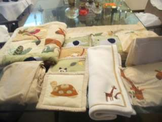 kidsline *ZANZIBAR* Crib Bedding Set + more euc JUNGLE SAFARI THEME