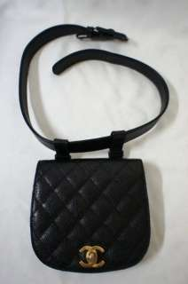 VINTAGE CHANEL CAVIAR LEATHER WAIST BELT BAG IN GREAT CONDITION