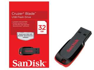 New Sandisk Cruzer Blade 32GB 32 GB USB Flash Memory Pen Drive SDCZ50