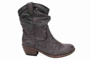 Mustang Womens Brown Ankle Ladies Cowboy Boots