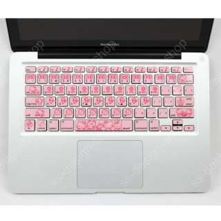 Hello Kitty Mac Keyboard Decal Pink Sticker Cover for Apple MacBook