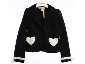 Girl Navy Blue and white heart print jacket sizes 2 15 yrs