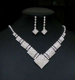 Bridal Wedding Party Necklace Earrings FREE SHIP SY1434