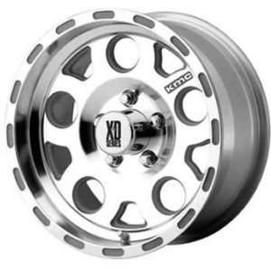 XD XD122 20x10 Machined Wheel / Rim 5x135 with a  24mm Offset and a 94