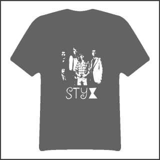 Styx Retro Rock Music Group T Shirt Dark Gray