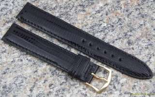 17mm HAMILTON Ventura LIZARD NOS Watch Band BLACK Strap