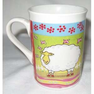 Houston Harvest Barnyard Animals Sheep Rooster Coffee Mug