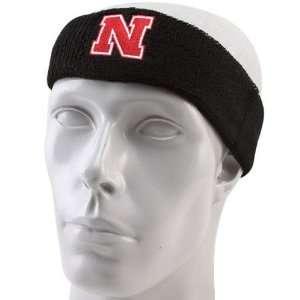 adidas Nebraska Cornhuskers Black Basic Logo Headband