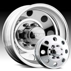 19.5 x6 Eagle 0589 Polished Wheels Rims 8 Lug Dually