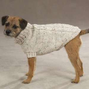 XXS Dublin Classic Cable Knit Dog Sweater