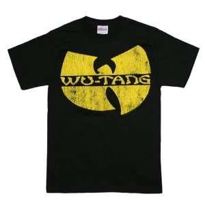 Wu Tang Clan T Shirts Clan Distressed Logo Sports