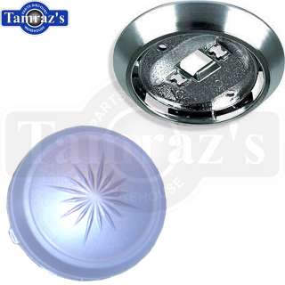 70 81 GM Models Interior Roof Dome Light Round Lens Cover & Reflector