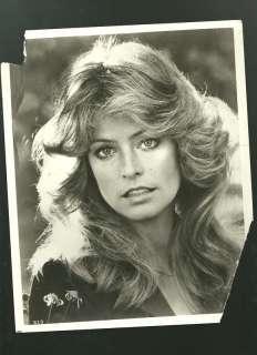 1970s Farrah Fawcett 8x10 BW tough Charlies Angels