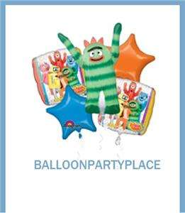 NICKELODEON YO GABBA PARTY birthday decorations BALLOONS bouquet 1st