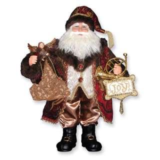 NEW in Box Karen Didion 20 Bordeaux Santa Figurine